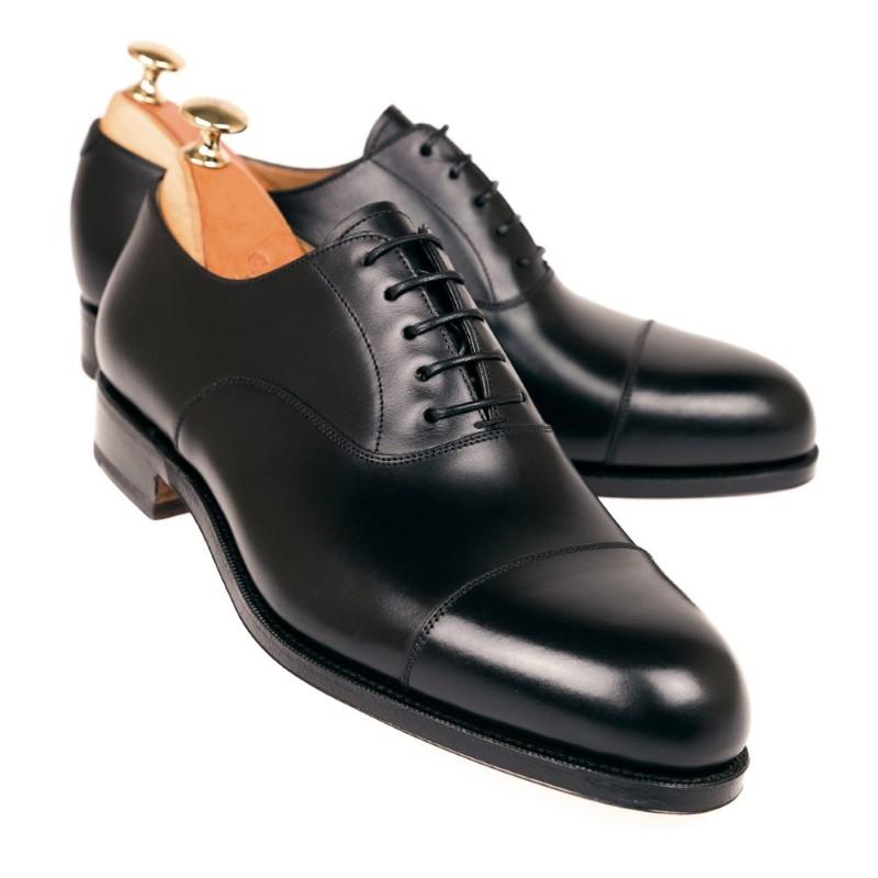detailed look online retailer cute Carmina Oxford Shoes 732 Forest EEE Black   MensDesignerShoe.com