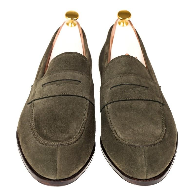 e16e5ae9a14 Carmina Penny Loafers 923 Forest Loden Suede Image. Carmina Shoes  Logo logo. ImageText. ImageText