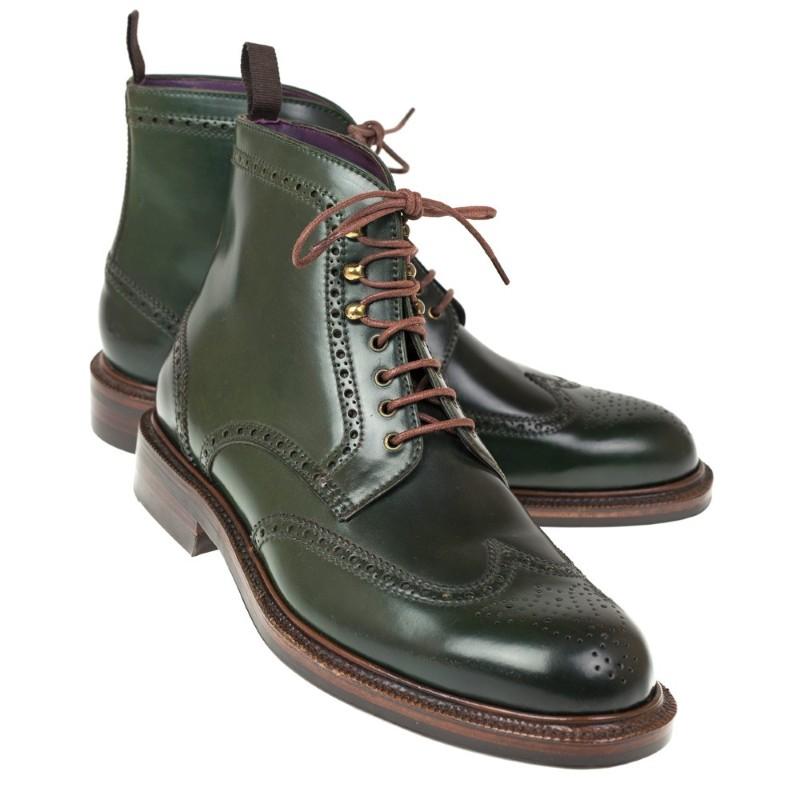 Carmina Shell Cordovan Boots 80277 Llubi Green Image