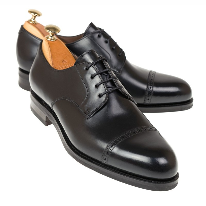 Carmina Shell Cordovan Derby Shoes 748 Forest Black Image