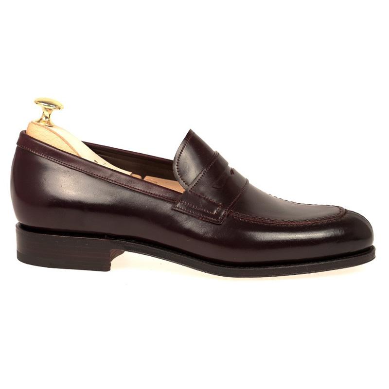 a3f0ac51e5a Carmina Shell Cordovan Penny Loafers 923 Forest Burgundy Image. Carmina  Shoes Logo logo. ImageText