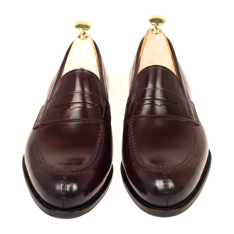 c476b77a065 Carmina Shell Cordovan Penny Loafers 923 Forest Burgundy Image. Carmina  Shoes Logo logo. ImageText. ImageText