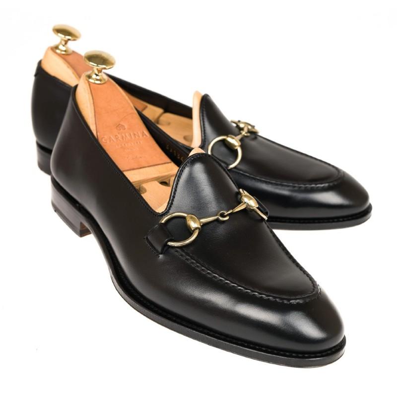 Carmina Unlined Horsebit Loafers 80643 Uetam Black Image