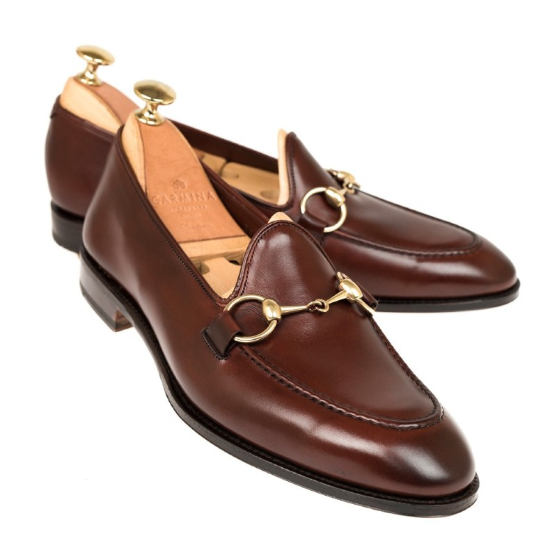 Carmina Unlined Horsebit Loafers 80643 Uetam Burgundy Image