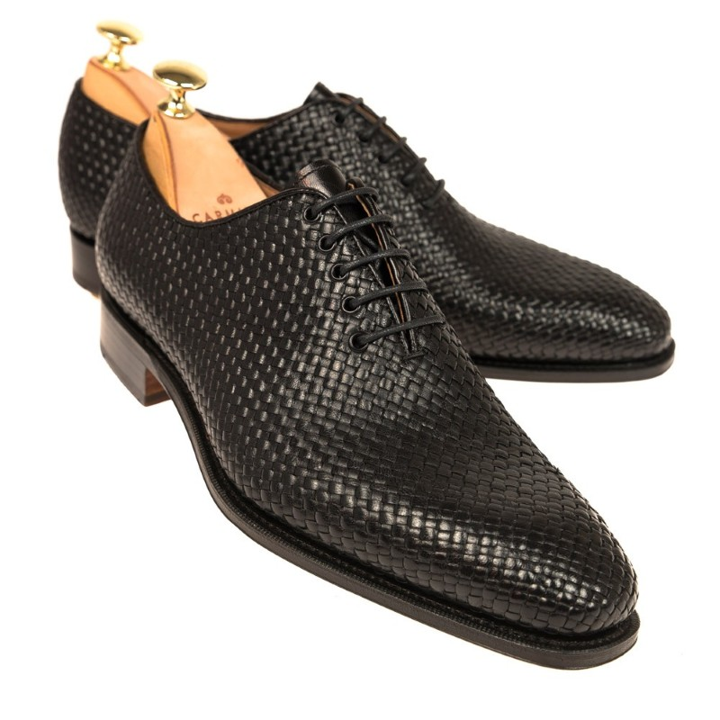 Carmina Wholecut Braided Shoes 80138 Rain Black Image