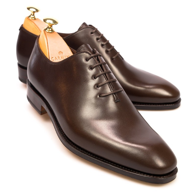 Carmina Wholecut Oxfords 910 Rain Brown Image