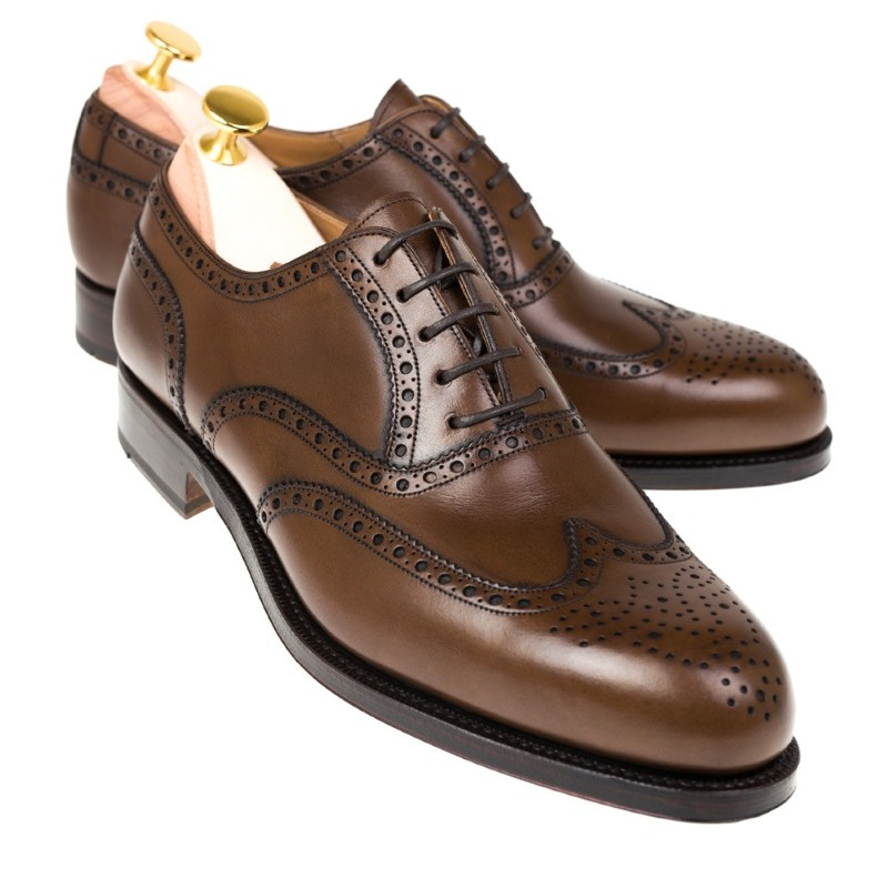 Carmina Wingtip Oxfords 813 Forest Brown Image