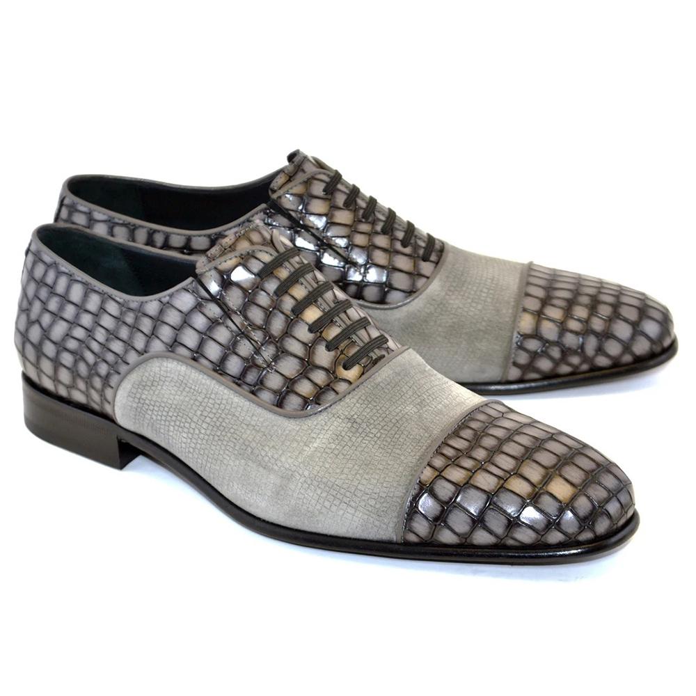 Corrente C012-5796 Cap Toe Fake Lace Shoes Grey Image