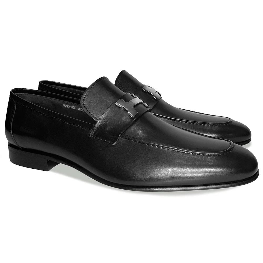 Corrente C021-5760-H Buckle Loafer Shoes Black Image