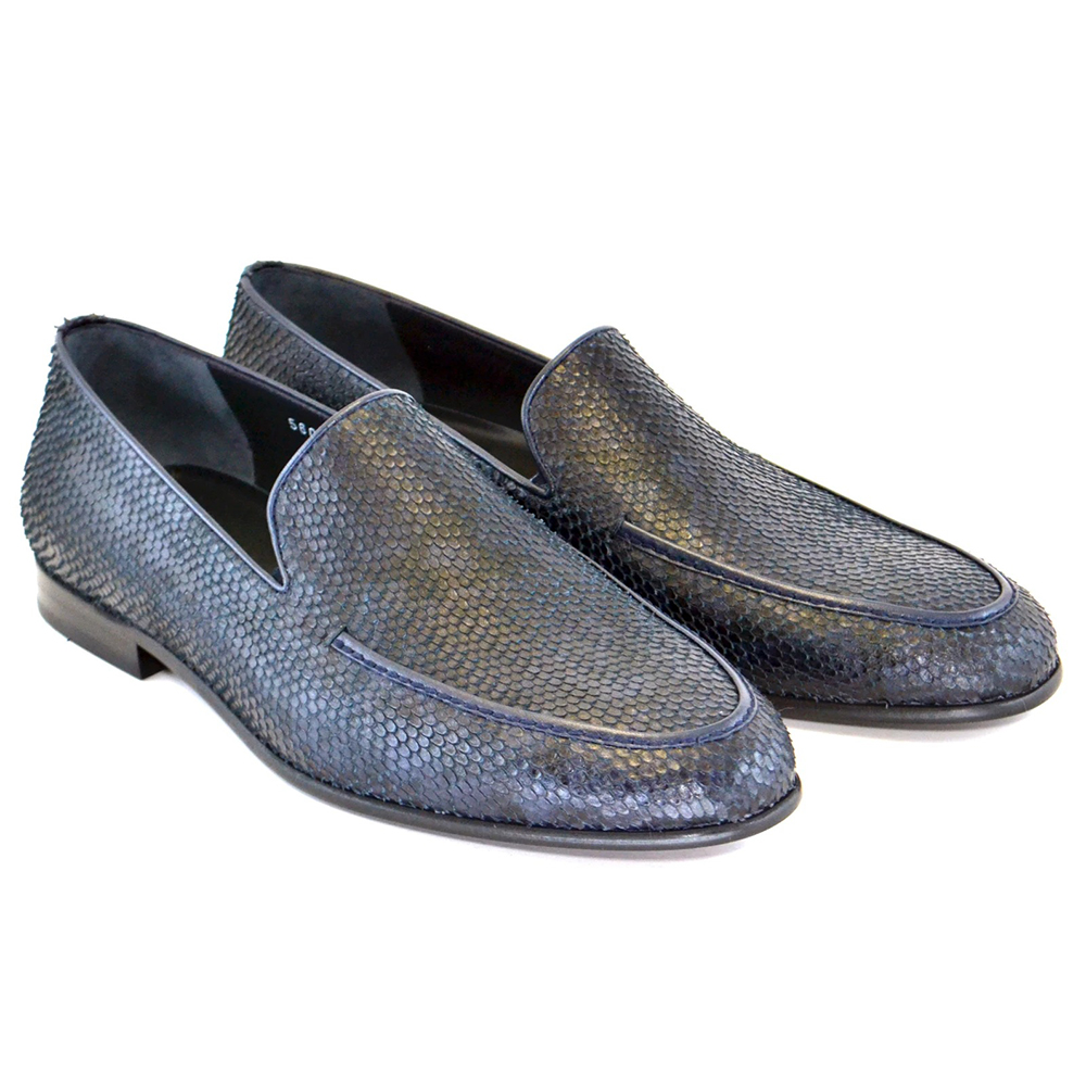 Corrente C11-5604 Python Loafers Navy Image