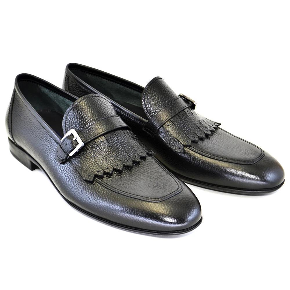 Corrente C164-4728 Kilttie Buckle Loafers Black Image