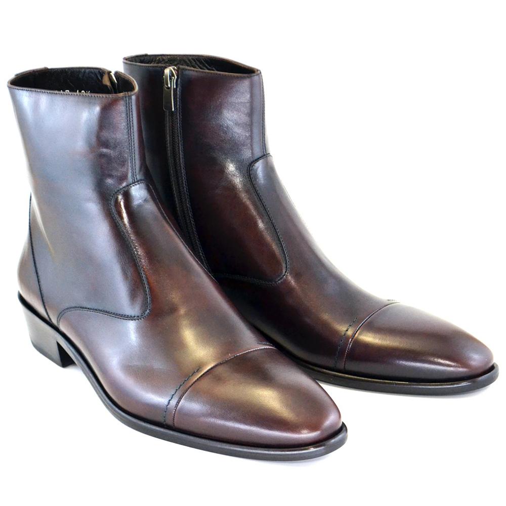 Corrente C189-1547 Cap Toe Side Zipper Boots Brown Image