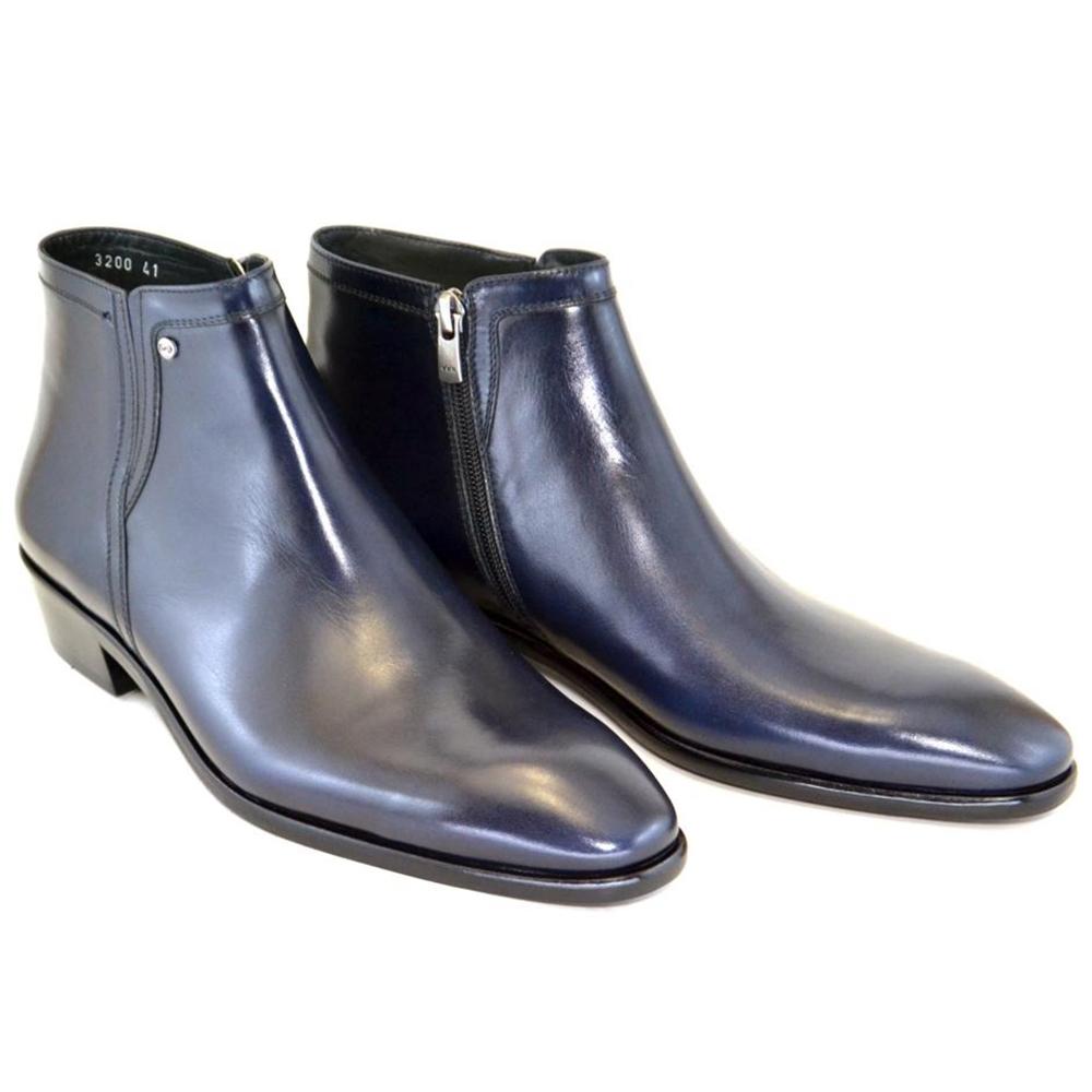 Corrente C196-3200HS Plain Toe Side Zipper Boots Navy Image