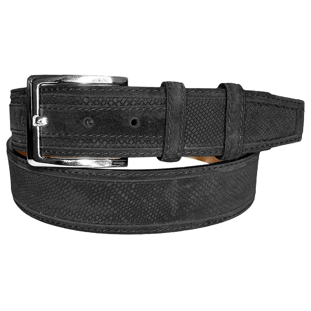 Corrente CBelt-5776 Design Suede Belt Black Image