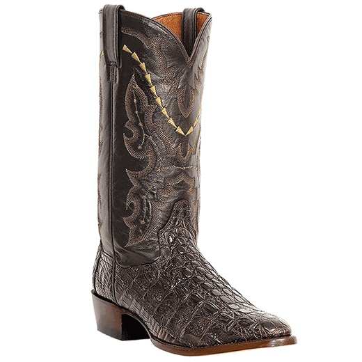 Dan Post Birmingham DP2386 Caiman Flank Western Boots Chocolate Image