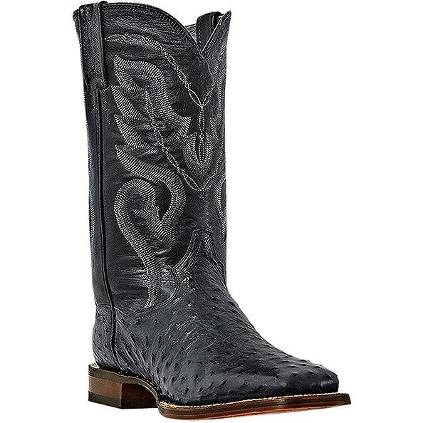 Dan Post Chandler DP2980 Ostrich Quill Boots Black Image