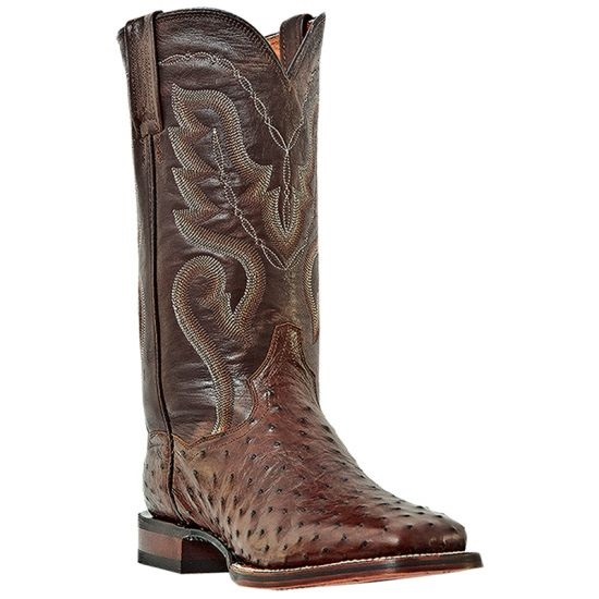 Dan Post Chandler DP2981 Ostrich Quill Boots Tobacco Image