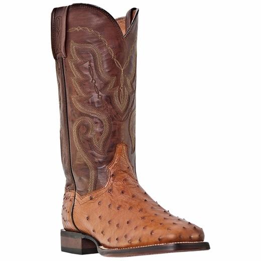 Dan Post Chandler DP2982 Ostrich Quill Boots Cognac Image