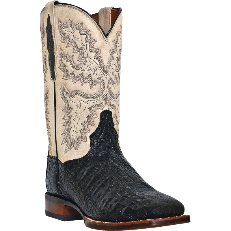 Dan Post Denver DP2805 Western Boots Bone / Black Image