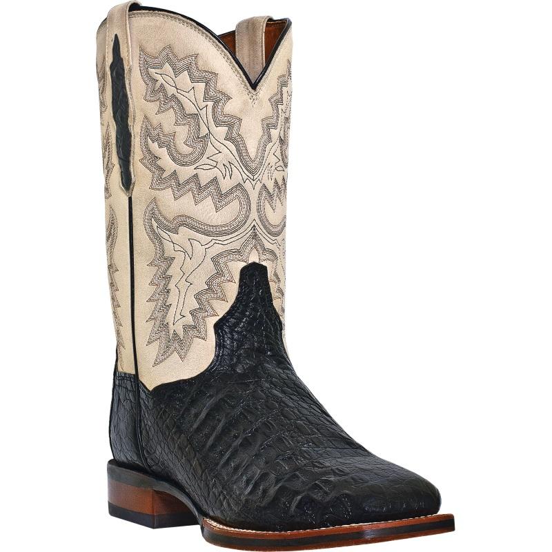 Dan Post Denver DP2805 Western Boots Bone / Black Image