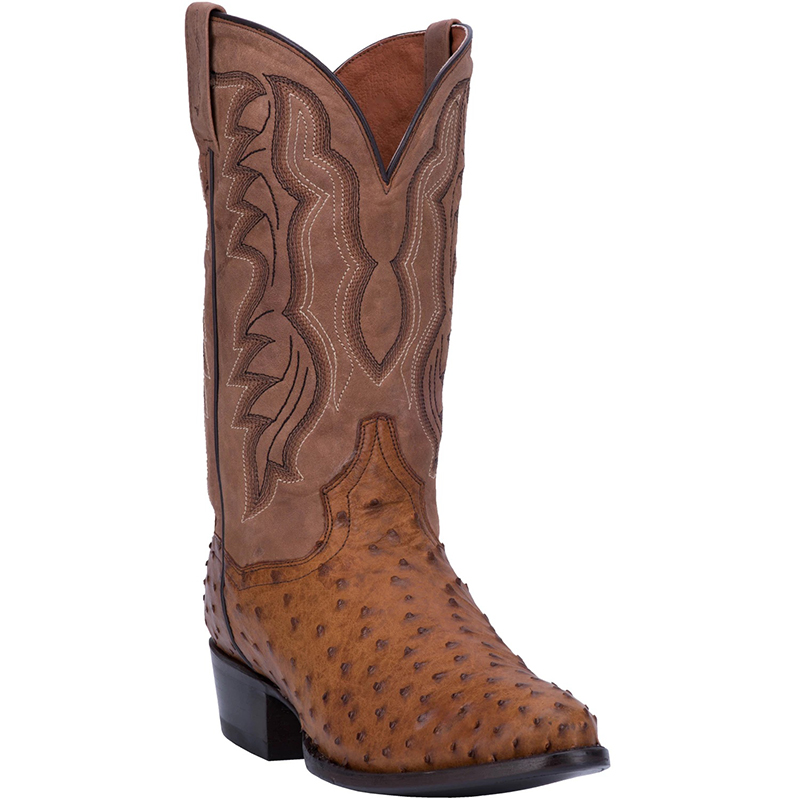 Dan Post DP2323 Tempe Full Quill Ostrich Boots Saddle Image