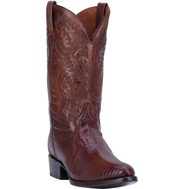 Dan Post DP2351R Raleigh Lizard Boots Antique Brown Image