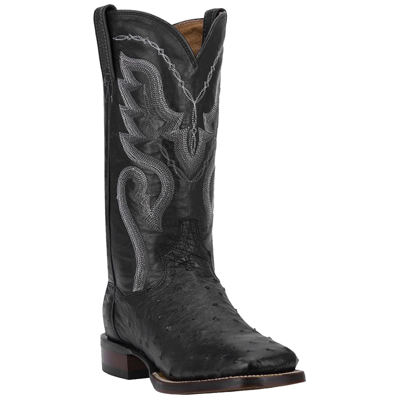 Dan Post DP2980 Chandler Full Quill Ostrich Boots Black Image