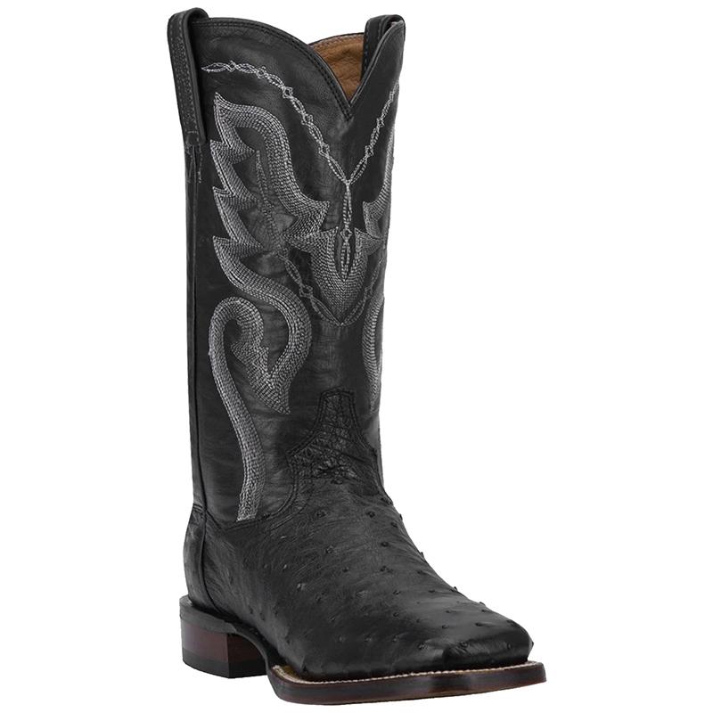 Dan Post DP2980 Chandler Full Quill Ostrich Boots Black Image