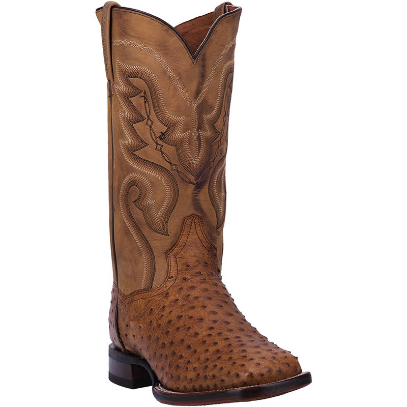Dan Post DP2984 Chandler Full Quill Ostrich Boots Saddle Image