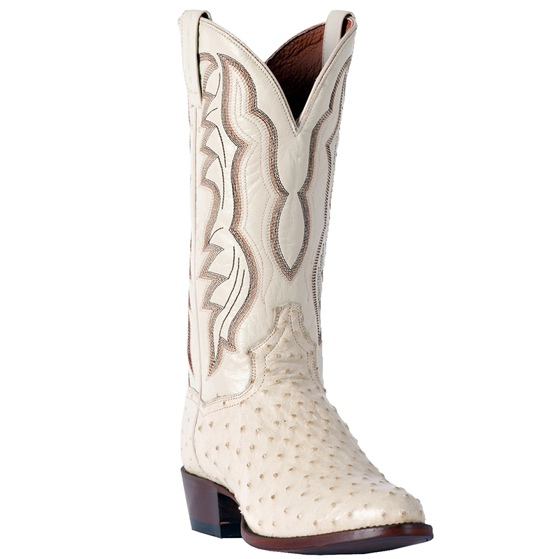 Dan Post DP3015 Pershing Full Quill Ostrich Boots Winter White Image