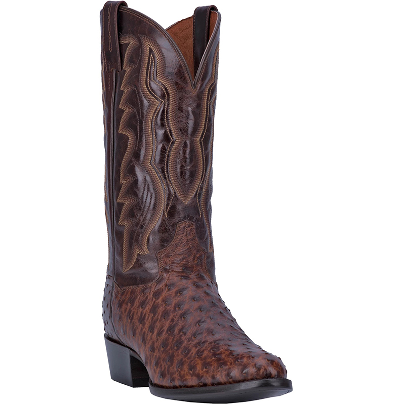 Dan Post DP3016 Pershing Full Quill Ostrich Boots Brass Image