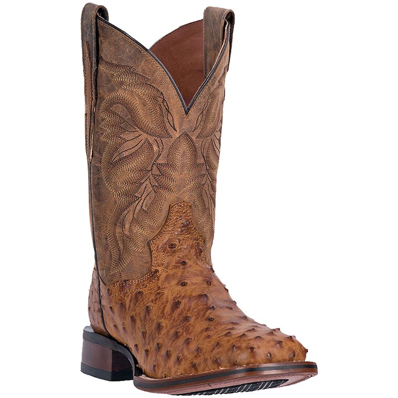 Dan Post DP3876 Alamosa Full Quill Ostrich Boots Saddle Image