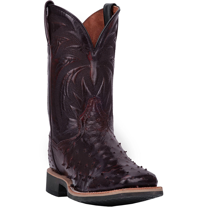 Dan Post DP3983 Philsgood Full Quill Ostrich Boots Black Cherry Image