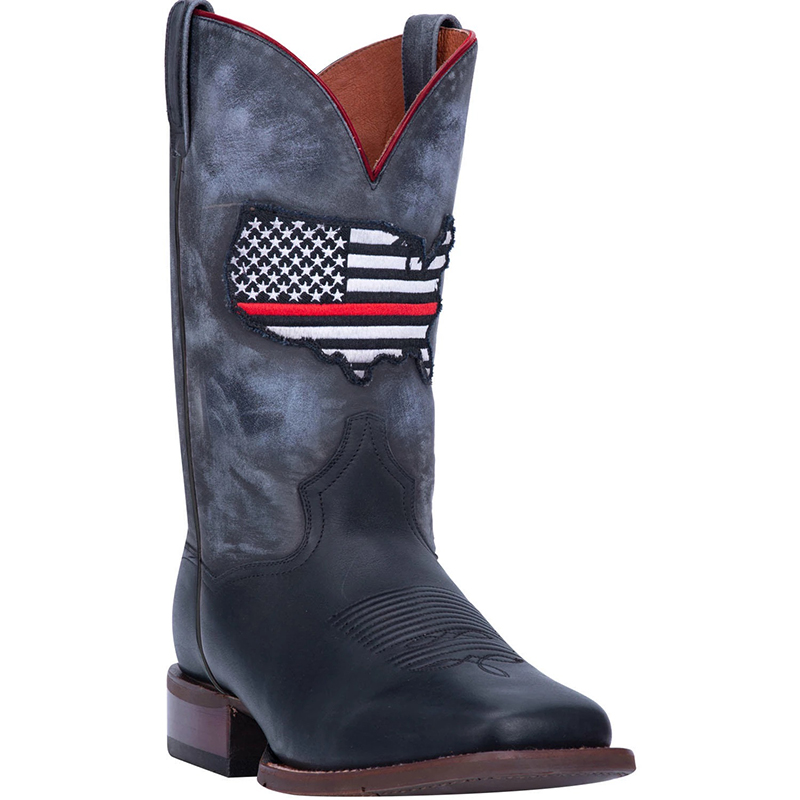 Dan Post DP4514 Thin Red Line Leather Boots Black Image