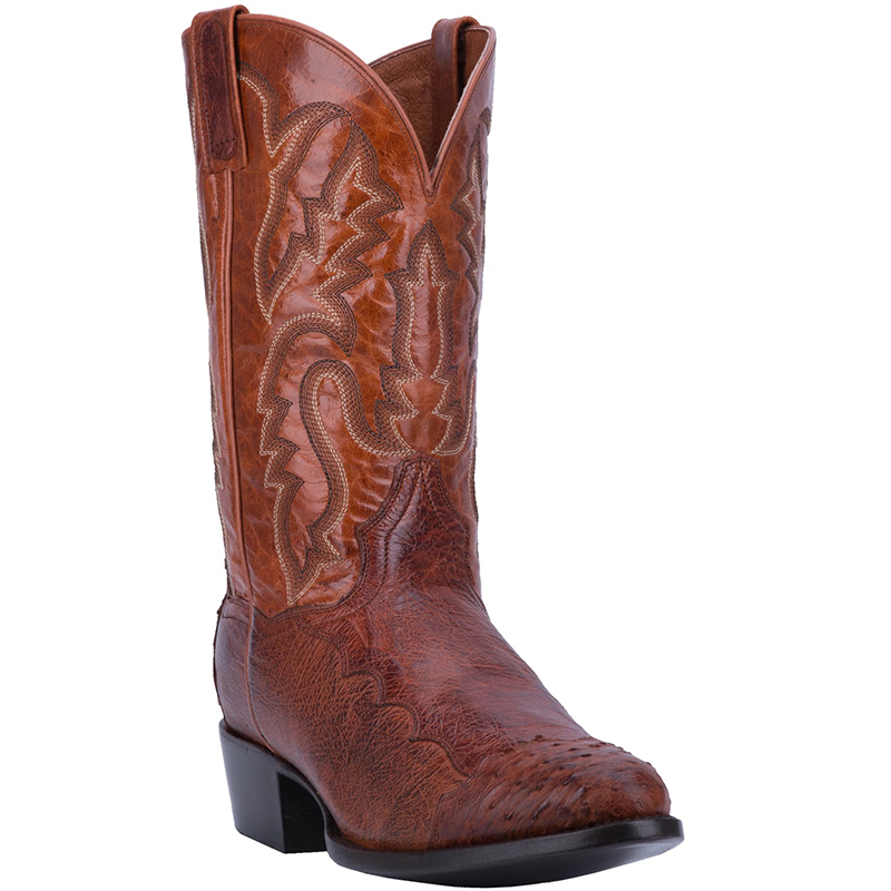 Dan Post DPP5210 Pugh Smooth Ostrich Boots Cognac Image