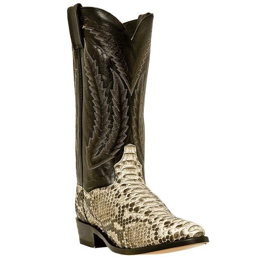 Dan Post Omaha DPP3036 Python Western Boots Natural Image