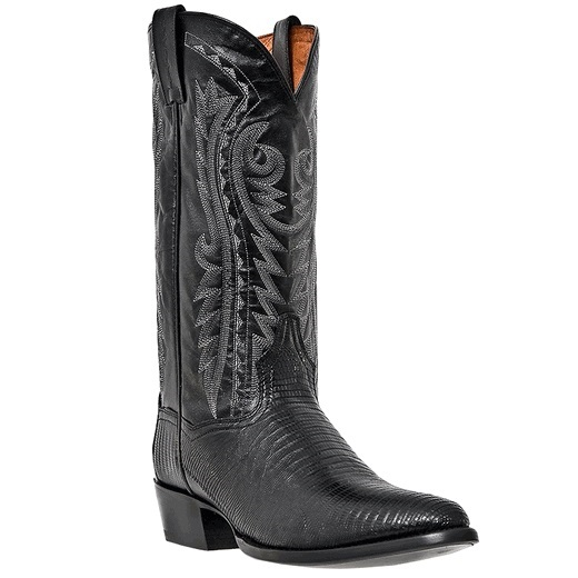 Dan Post Raleigh DP2350R Lizard Western Boots Black Image