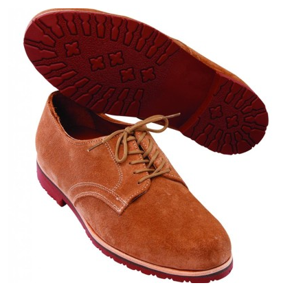 T.B. Phelps Buck II Suede Derby Shoes Sand Image