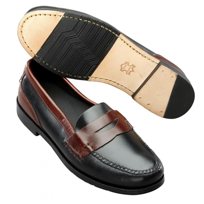 T.B. Phelps Marco Penny Loafers Saddle Black/Brown Image