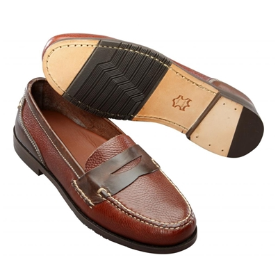 T.B. Phelps Marco Penny Loafers Walnut / Brown Image
