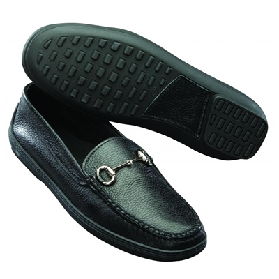 T.B. Phelps Pebble Grain Bit Driving Shoes Black Image