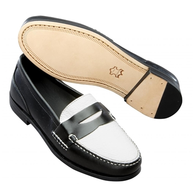 T.B. Phelps The Shag Spectator Loafers Black/White Image
