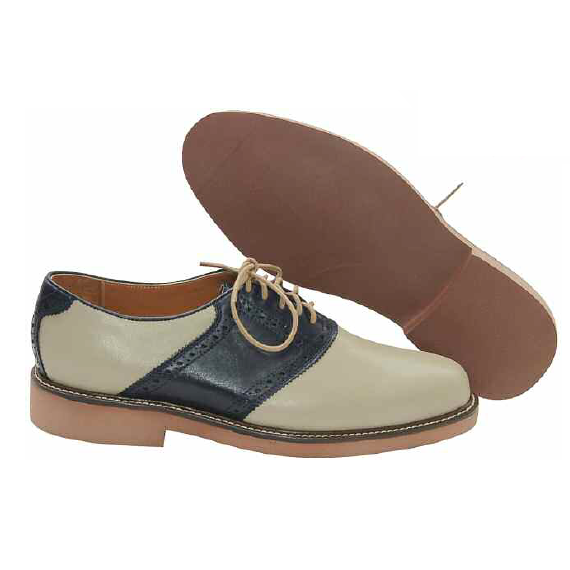 David Spencer Saddle Oxfords Khaki Navy Mensdesignershoe Com