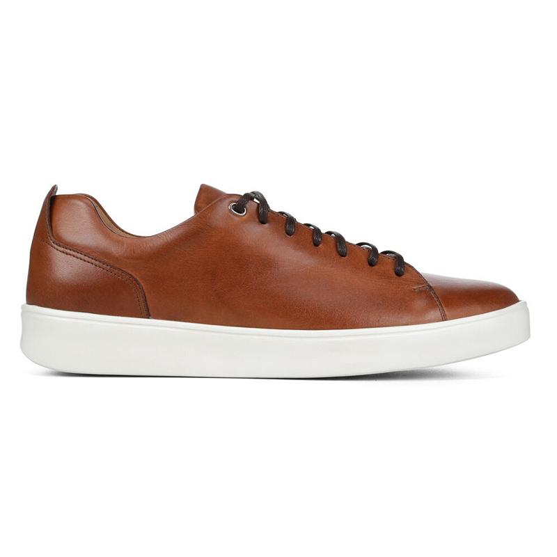 Donald Pliner Andee Calfskin Sneaker Saddle Image