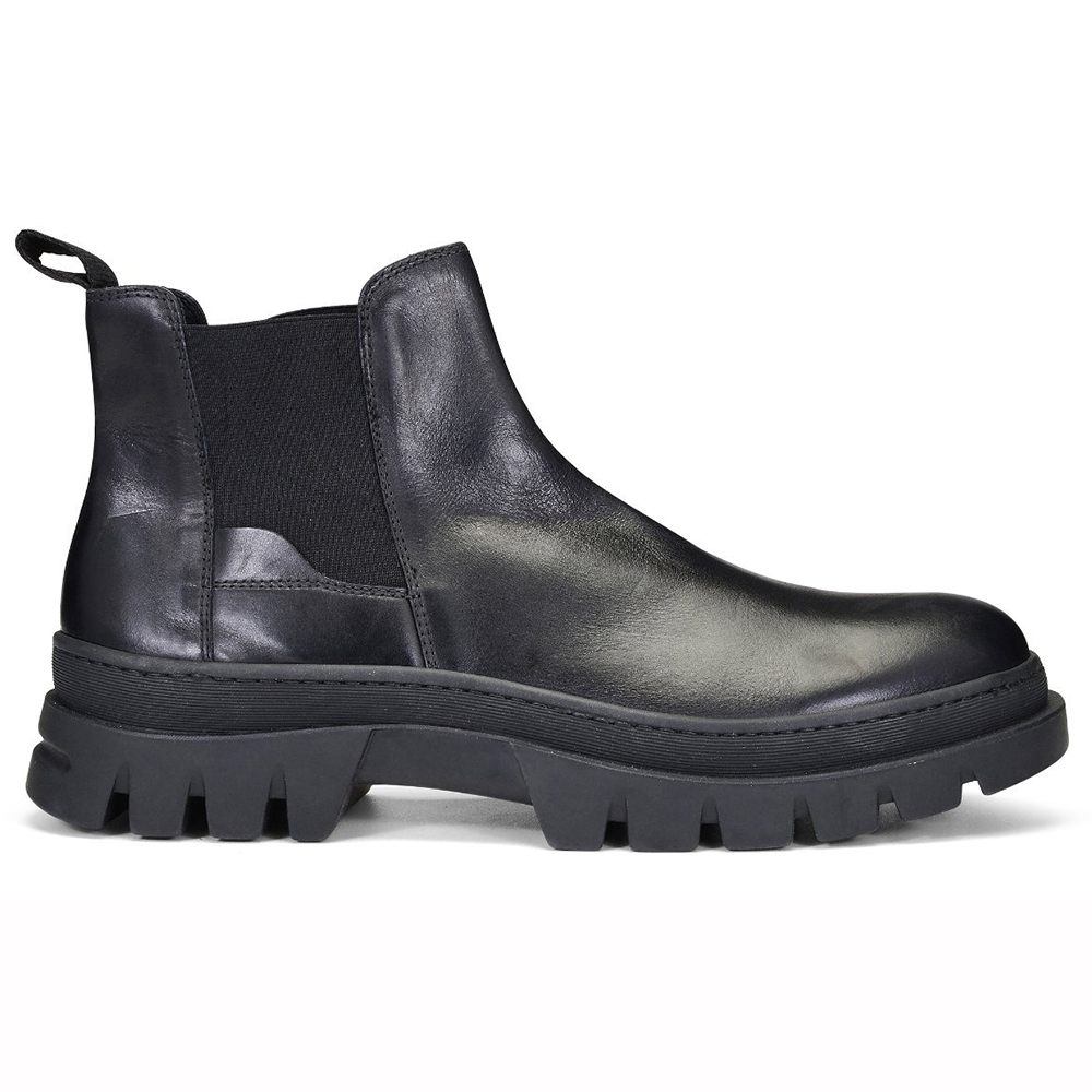 Donald Pliner Anderson Calfskin Chelsea Boots Black Image