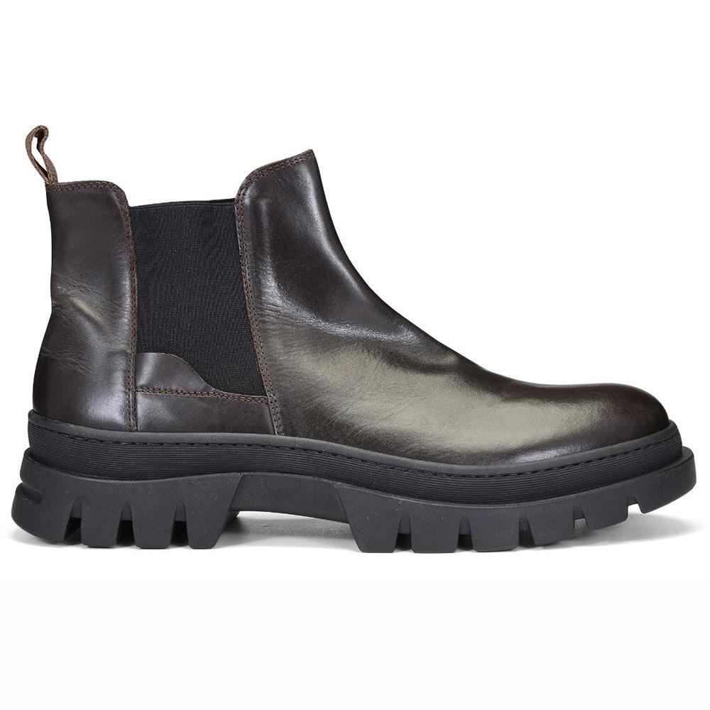 Donald Pliner Anderson Calfskin Chelsea Boots Dark Brown Image