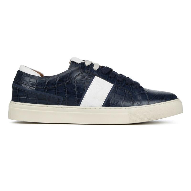 Donald Pliner Andrew Crocco Sneaker Navy Image