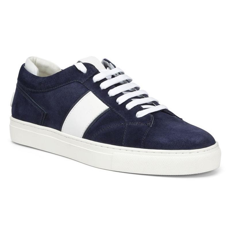 Donald Pliner Andrew Sport Suede Sneaker Navy Image