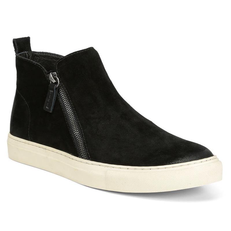 Donald Pliner Barlow Suede Calf Sneaker Shoe Black Image