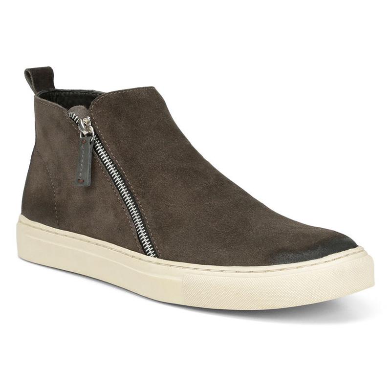Donald Pliner Barlow Suede Calf Sneaker Shoe Dark Gray Image
